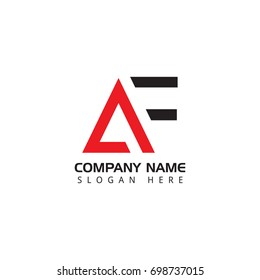 Letter AF logo design template elements
