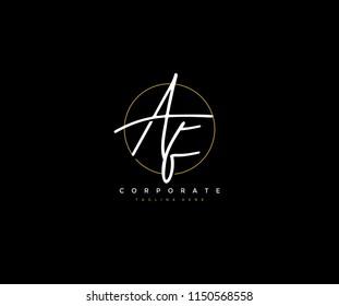 Letter AF Logo Manual Elegant Minimalist Signature Logotype