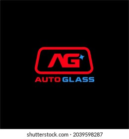 Letter AG Auto Glass Company logo. Vector and illustration.