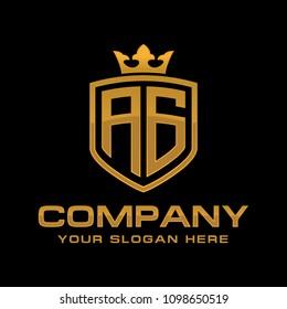 Letter AG initial logo, luxury logo design