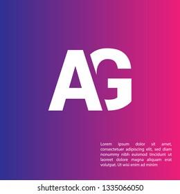 letter AG logo concept. Designed for your web site design, logo, app, UI