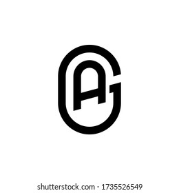 Letter AG logo design icon template