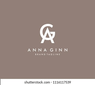 Letter AG Luxury Logo Ideal for Fashion Beauty Brand
