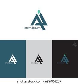 Letter AI logo icon design template elements