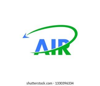 Letter Air Travel Logo Design Template