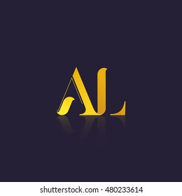 Letter AL that can be used as initial logo