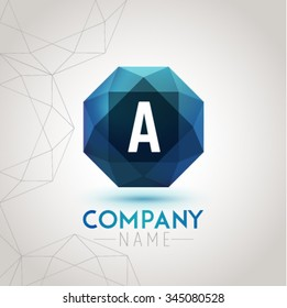 Letter A Alphabet Logo Icon Design Template Element. Vector Color Sign Easy Editable for Your Design.