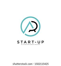 letter ap icon design template,logo start-up tech consultancy