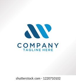 Letter AP logo design