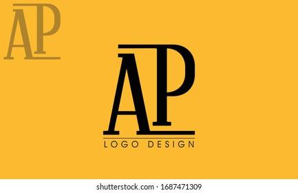 Letter AP logo design template elements