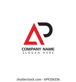 Letter AP logo design template elements