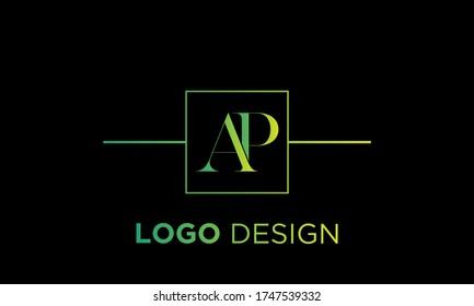 Letter AP PA A P logo design template elements