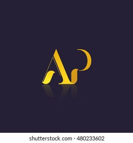 Letter AP that can be used as initial logo