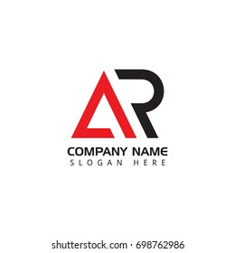 Letter AR logo design template elements