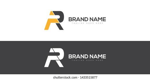 Letter AR minimalist logo for big brands