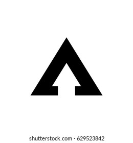 a letter arrow vector logo