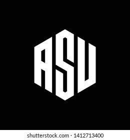 Letter ASU logo design - Vector - Vector
