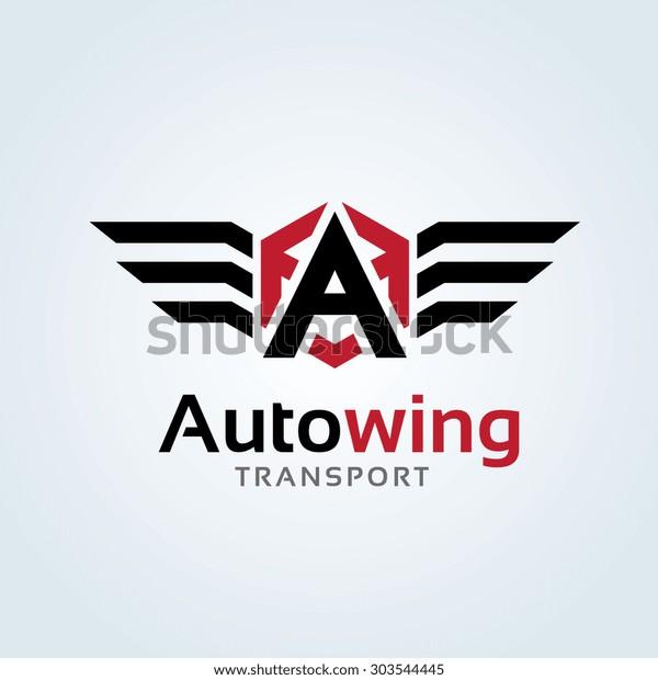 A letter Automotive Car Logo Template