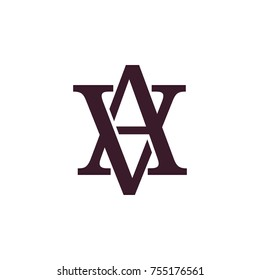 letter av linked 3d design logo vector