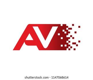 Letter AV Logo Template Design Vector, Emblem, Concept Design, Creative Symbol, Icon