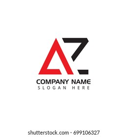 Letter AZ logo design template elements