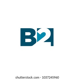 letter B and 2 vector logo