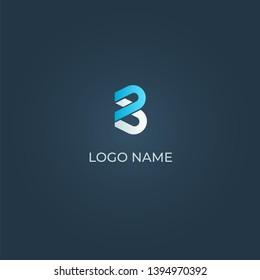 Letter B alphabet logo vector design