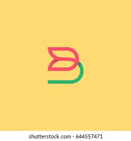 The letter B, Beautiful vector logo.