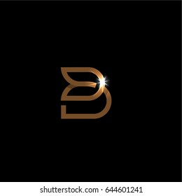 The letter B, Beautiful vector logo