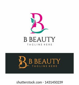Letter B Beauty Logo Spa Nature Salon