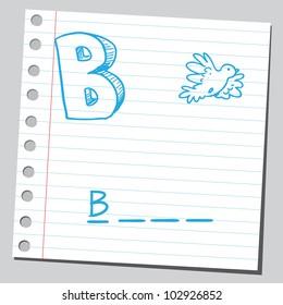 Letter B for bird