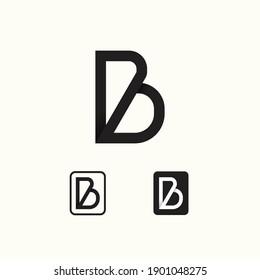 Letter B black white vector concept