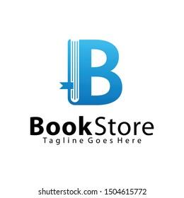 Letter B, Book Store logo design template