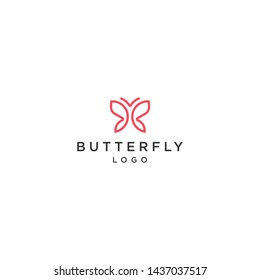 letter B Butterfly Simple outline concept graphic design minimalist