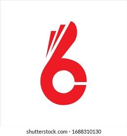 Vektorillustration des Buchstabens B C mit den Fingern. Hand Ok Symbol Symbol. Negative Weltraumidee-Logo. Bunny Kaninchen Logo Design Vorlage.