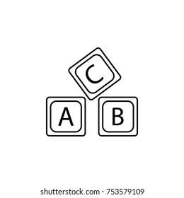 letter A B C logo alphabet icon on white background