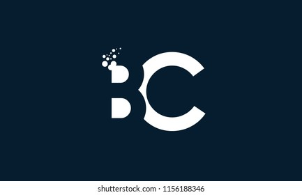 letter b and c logo with overlapping effect for illustration use