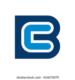 letter B and C logo vector.
