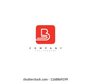 Letter B creative line dynamic modern application logo