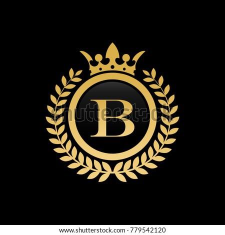 letter b crown logo stock vector royalty free 779542120 shutterstock