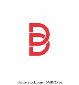 letter b d logo