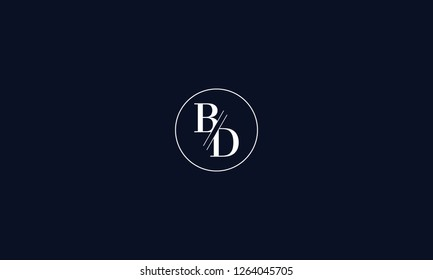 LETTER B AND D LOGO WITH CIRCLE FRAME FOR LOGO DESIGN OR ILLUSTRATION USE
