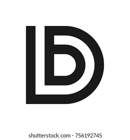 letter b and d vector logo.