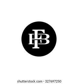 letter B and F monogram circle logo