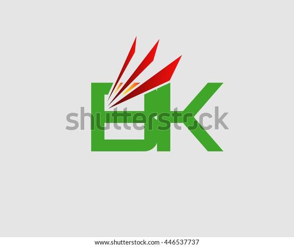 Letter B and K logo