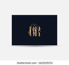 letter B K logo. luxury lettr BK logo design element.