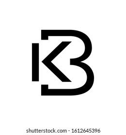 letter B and K monogram shape logo,KB Logo Design Template,vektor illustration,KB logo initial letter design template vector