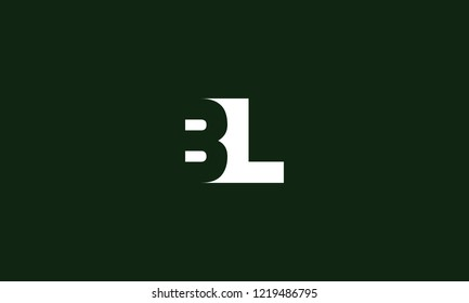 letter B L logo icon template design for branding. Creative, professional and customized initial typography for logo