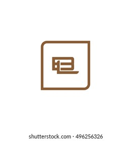 The letter B and L Monogram With Frame Square. Logo Design Template Brown
