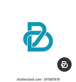 Letter B line puzzle style logo